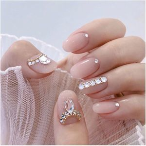 Sparkle One-Of-A-Kind Crystal Press On Nails